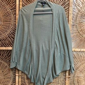 Sage green cocoon cardigan
